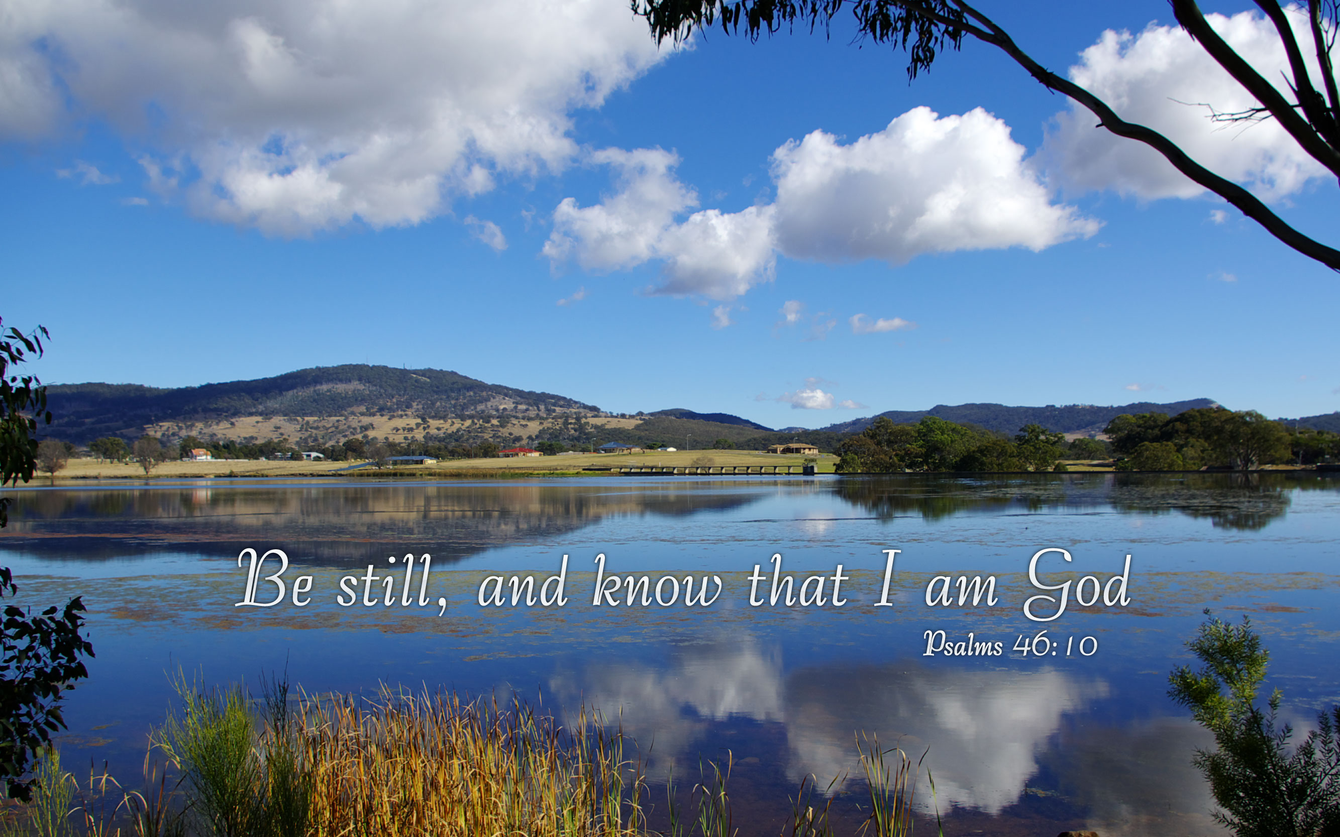 Psalms 4610   Nature Bible Desktop Background Wallpaper 2667x1667