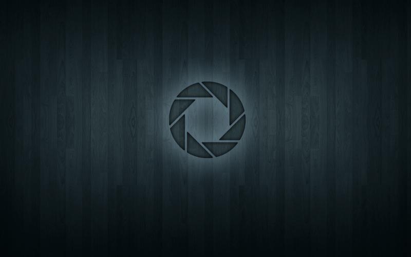 portal aperture laboratories portal 2 wood texture 1680x1050 wallpaper 800x500