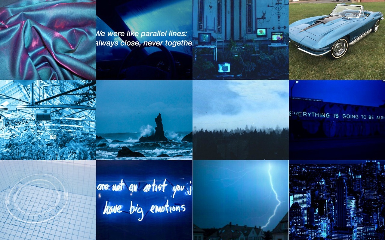 Wallpaper Everything Was Blue Blue Aesthetic Laptop 1280x800