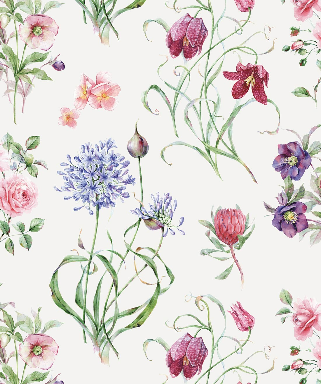 Botanical Wallpaper from the Wallpaper Republic Collection by 1100x1318
