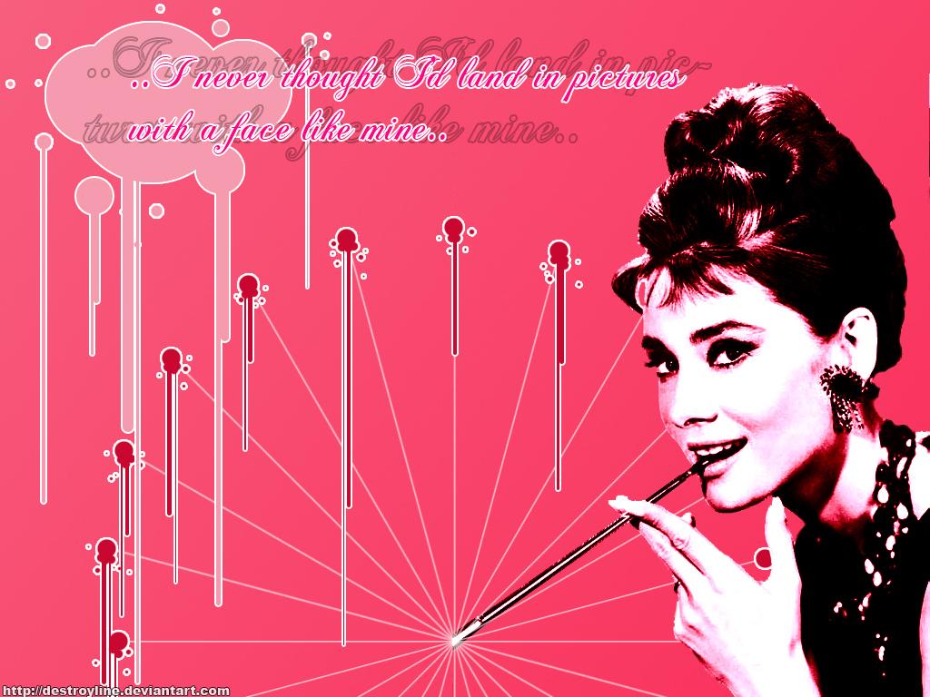 Pink Audrey   Audrey Hepburn Wallpaper 5314862 1024x768
