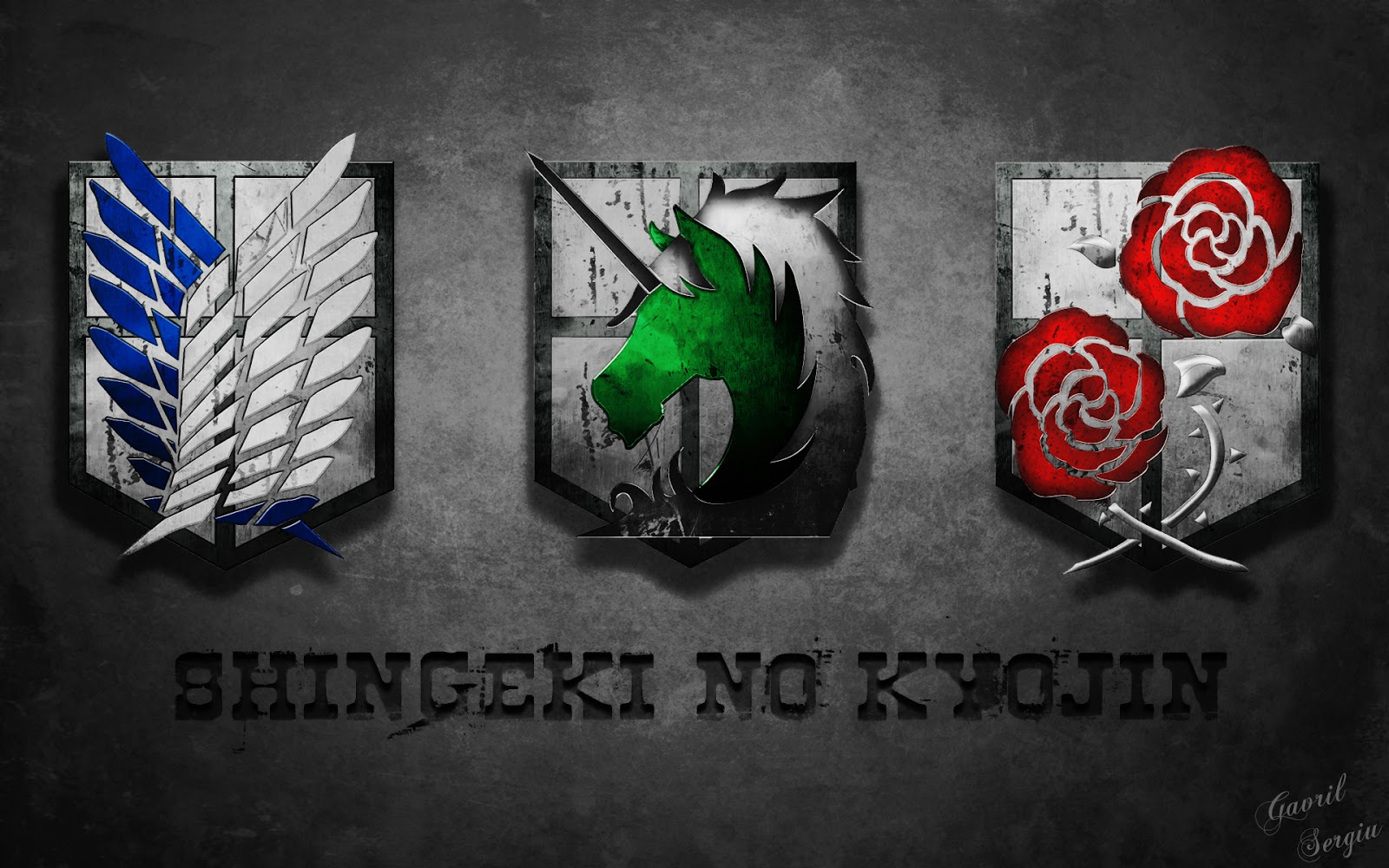 no Kyojin Emblem Logo Anime HD Wallpaper Desktop PC Background 1600x1000