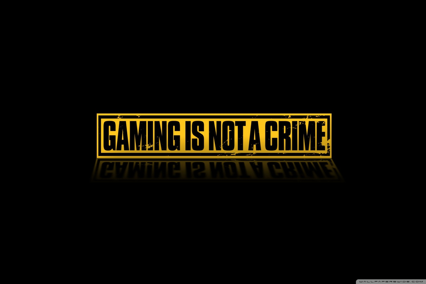 Gaming Is Not A Crime 4K HD Desktop Wallpaper for 4K Ultra HD 1440x960