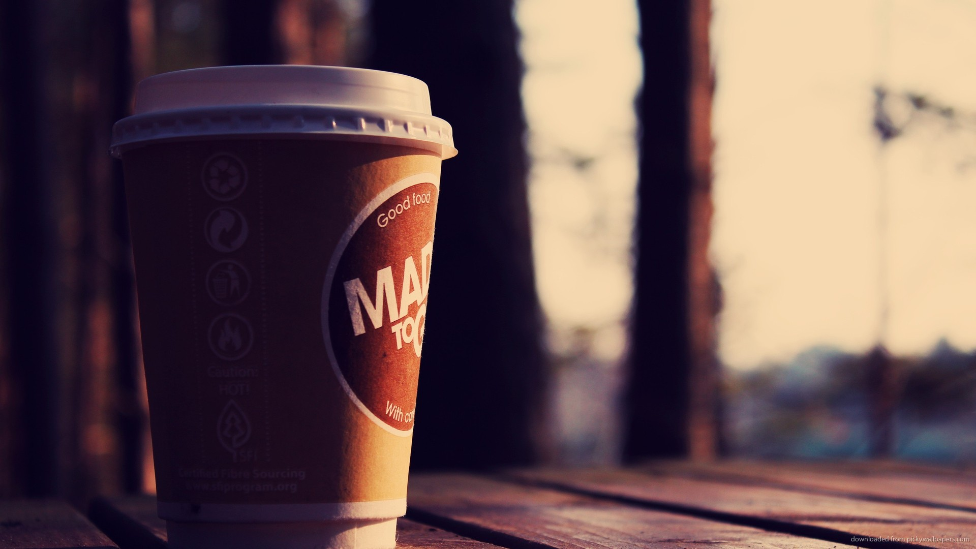 HD A Cup Of Coffee To Go Wallpaper 1920x1080