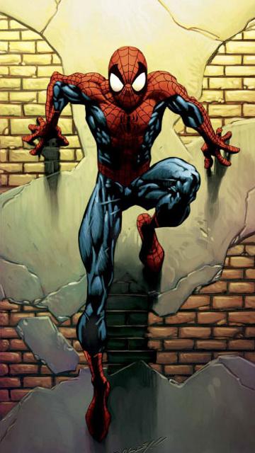 spider man anime mobile wallpaper 360x640