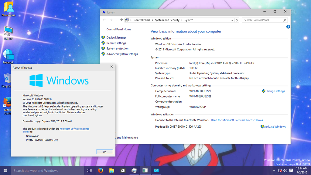 Download Windows 10 Enterprise Insider Preview Build 10074 by