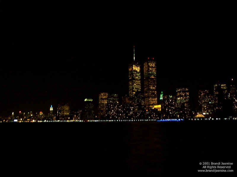 New York City Skyline At Night Wallpaper X