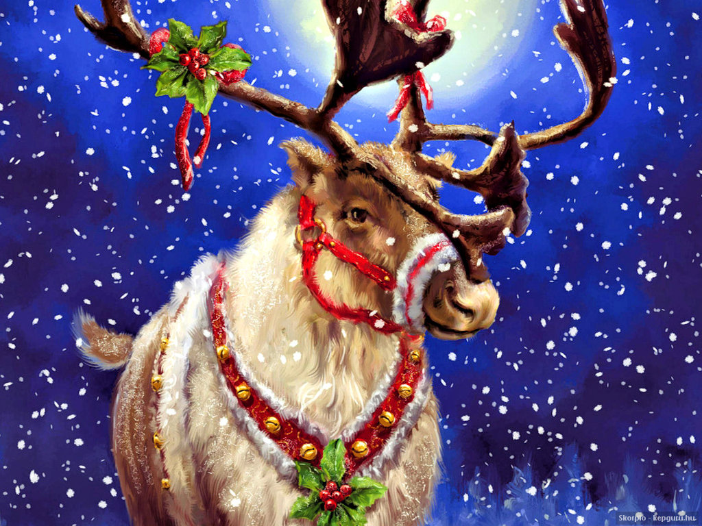 44 Christmas Deer Wallpaper On Wallpapersafari