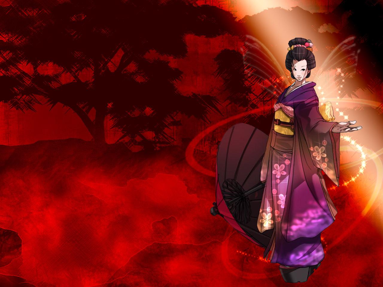 Falcoon Wallpaper Falcoons Geisha Girl   Minitokyo 1280x960