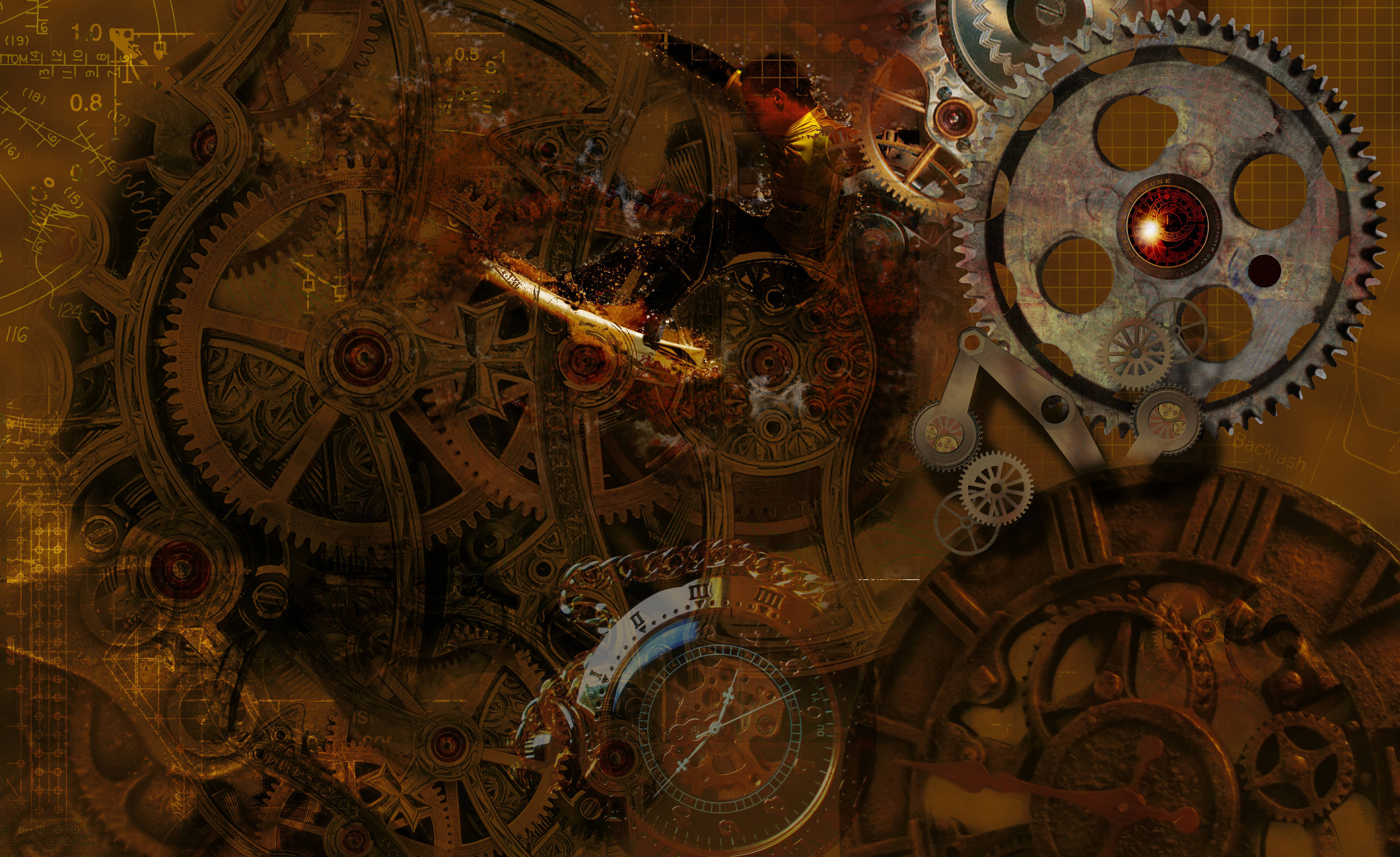 Steampunk world of technology wallpapers and images   wallpapers 3840x2352