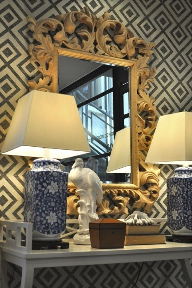 Lynn Chalk   Fiorentina Wallpaper by Lee Jofa in BlackCream 12475 620x929