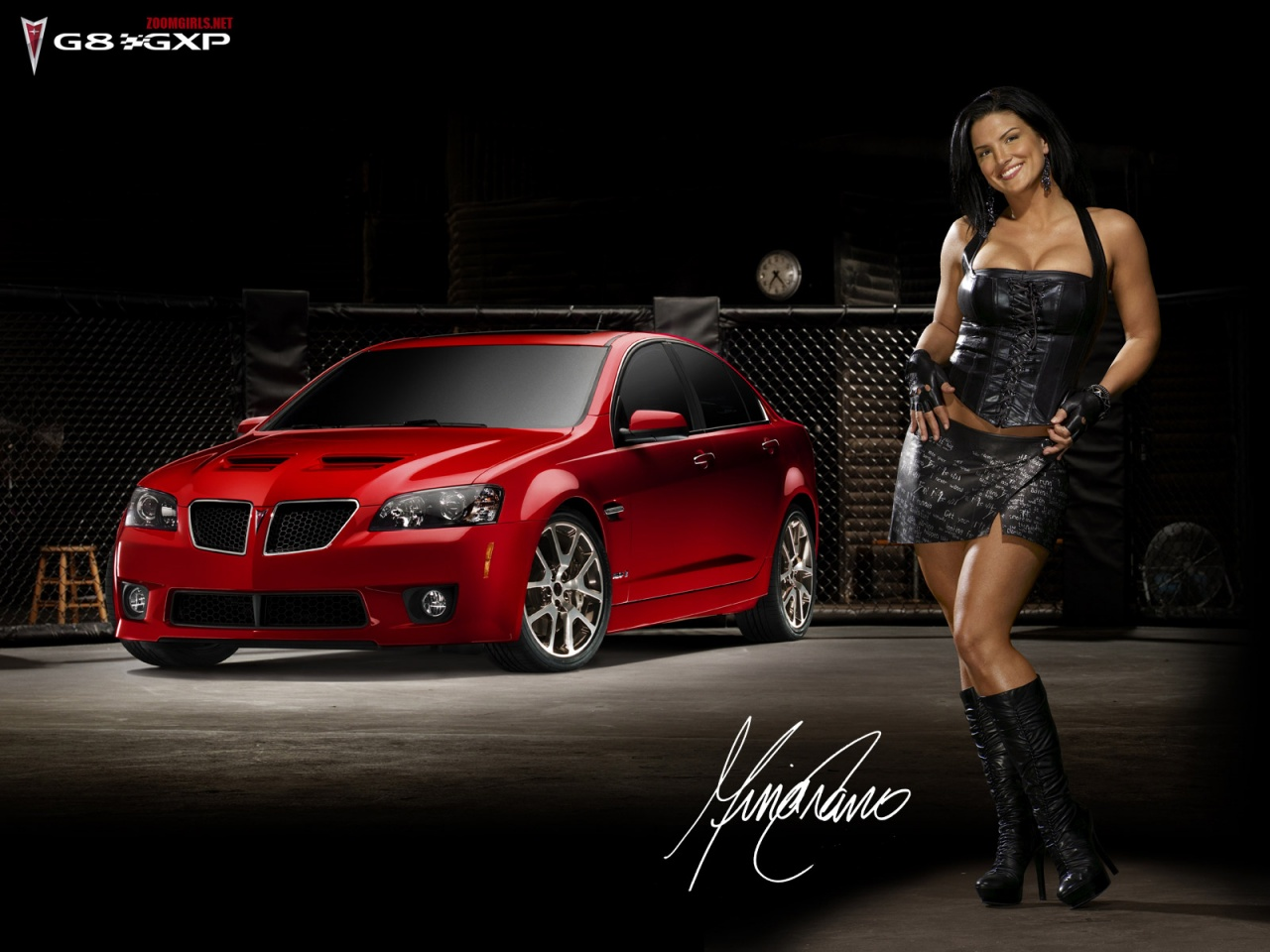 Download High quality Red Pontiac G8 GXP Girls Cars Wallpaper 1280x960
