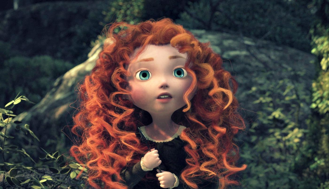 Картинка с рыжей девочкой из мультика