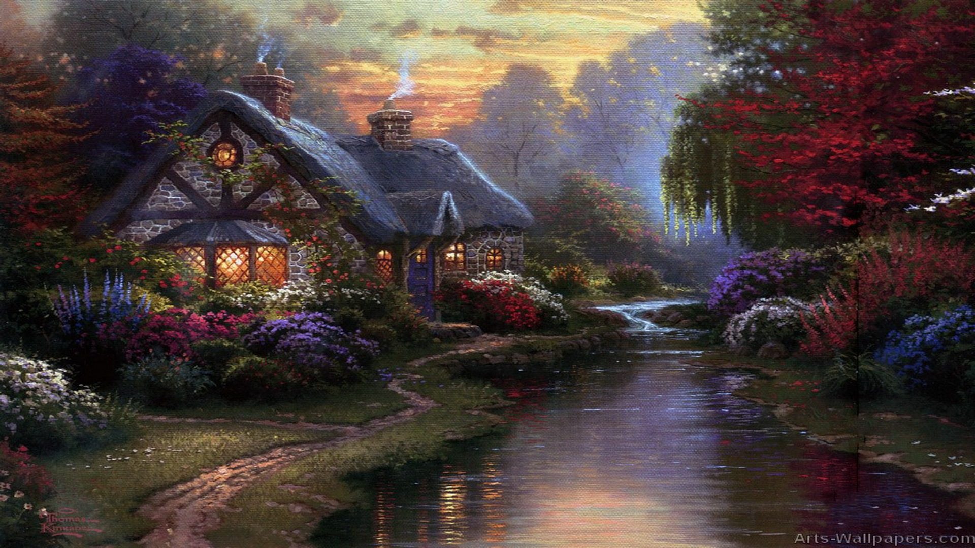 Nature Oil Paintings Wallpaper