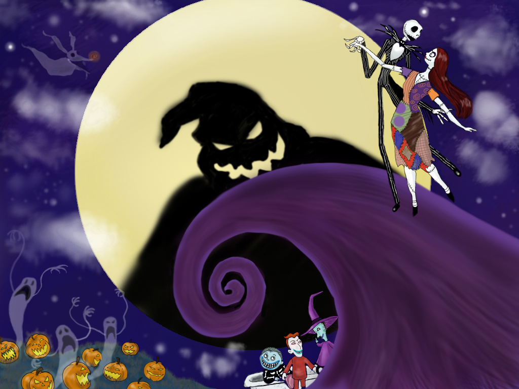 Images of Jack And Sally Nightmare Before Christmas Wallpaper ...