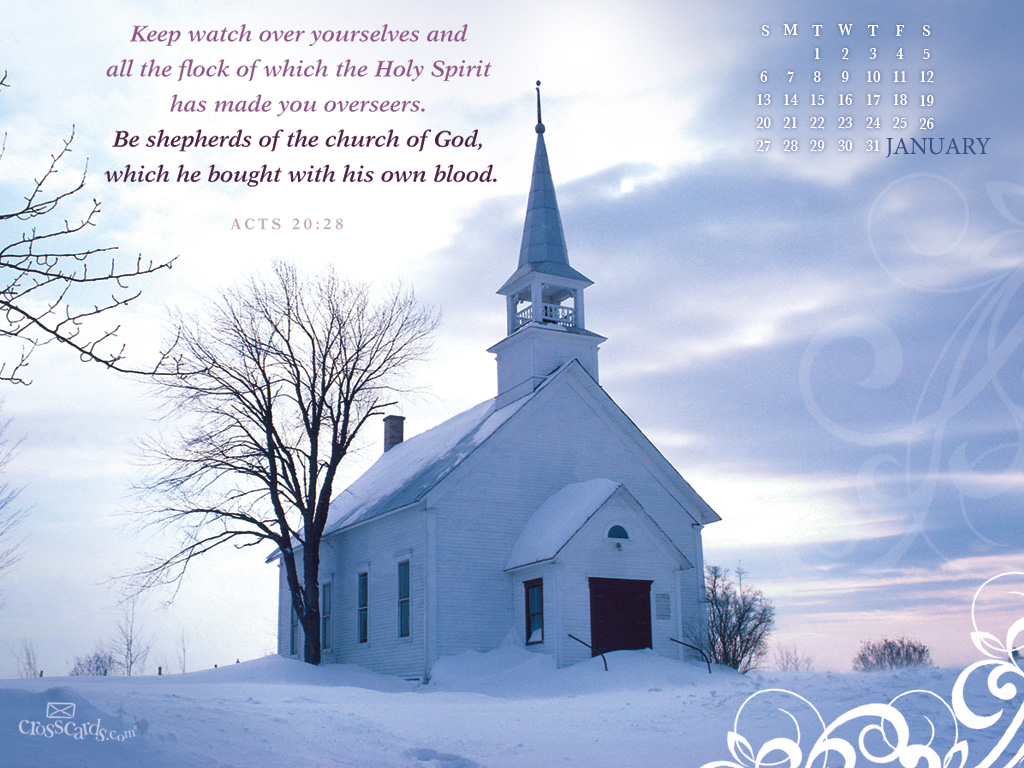 Jan 2013   Church Desktop Calendar  Monthly Calendars Wallpaper 1024x768