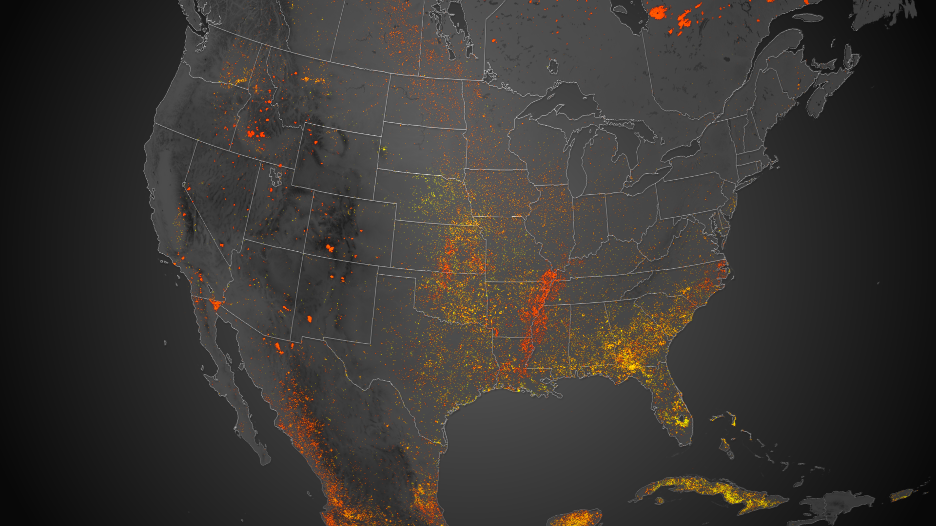 Continent on Fire Map Shows 6 Months of Wildfires Burning North 1920x1080