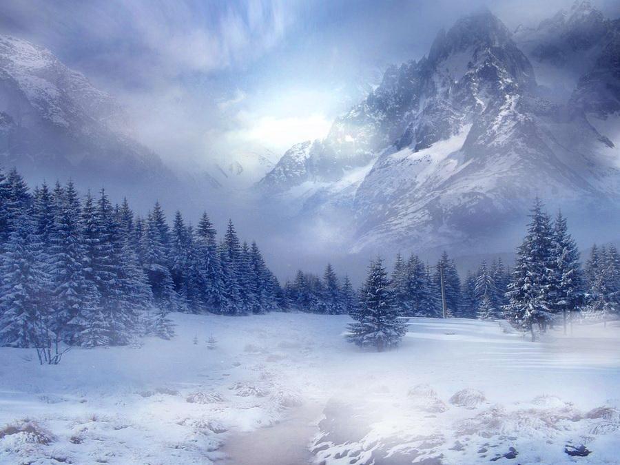 mountain snow scenes wallpaper wallpapersafari