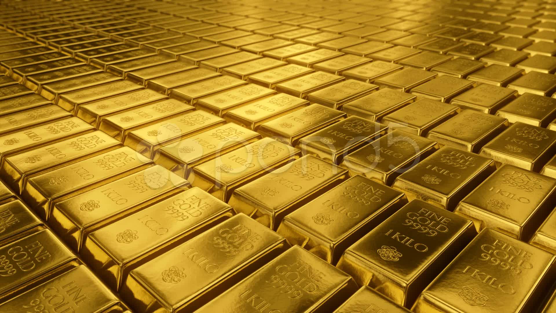 download Gold Bullion Goldbar Treasury Wealth Ingot Luxury 1920x1080