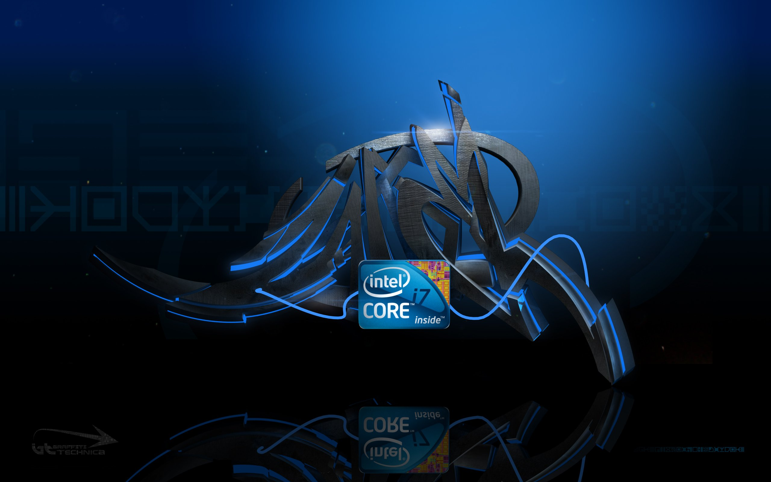 Wallpapers Intel logo hd wallpapers Intel wallpapers Intel inside 2560x1600