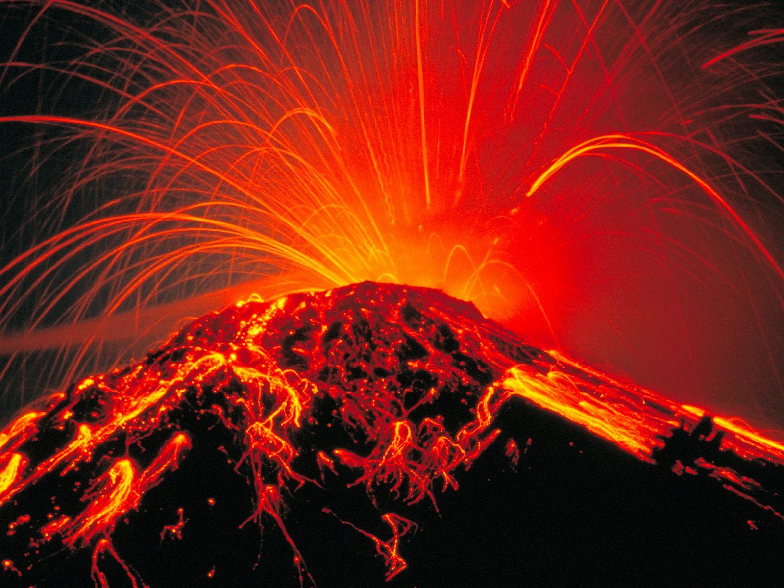 Volcano Computer Wallpapers Desktop Backgrounds 1600x1200