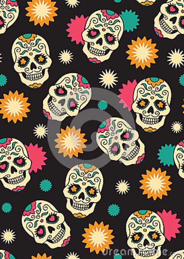 Sugar skull wallpaper Skulls Pinterest 642x900