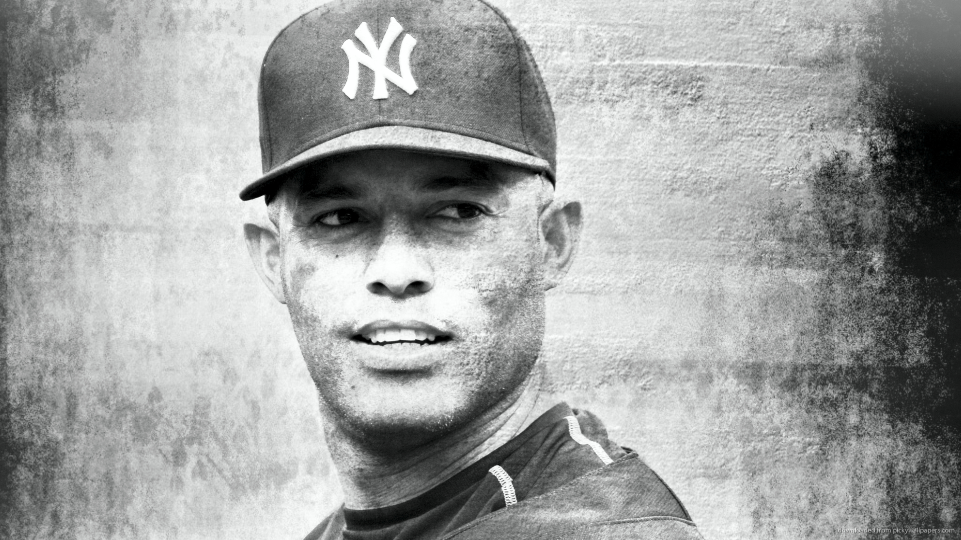HD Mariano Rivera Grayscale Portrait Wallpaper