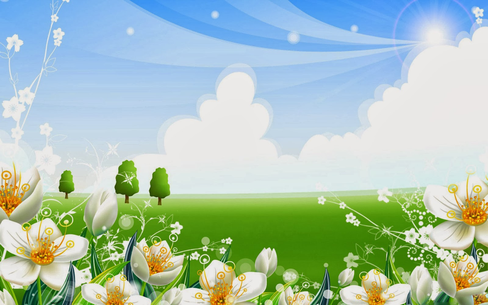 Summer flowers wallpaper   beautiful desktop wallpapers 2014 1600x1000