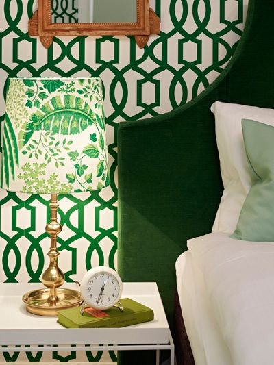 The fabulous emerald and white print on the wall is available in both 400x533