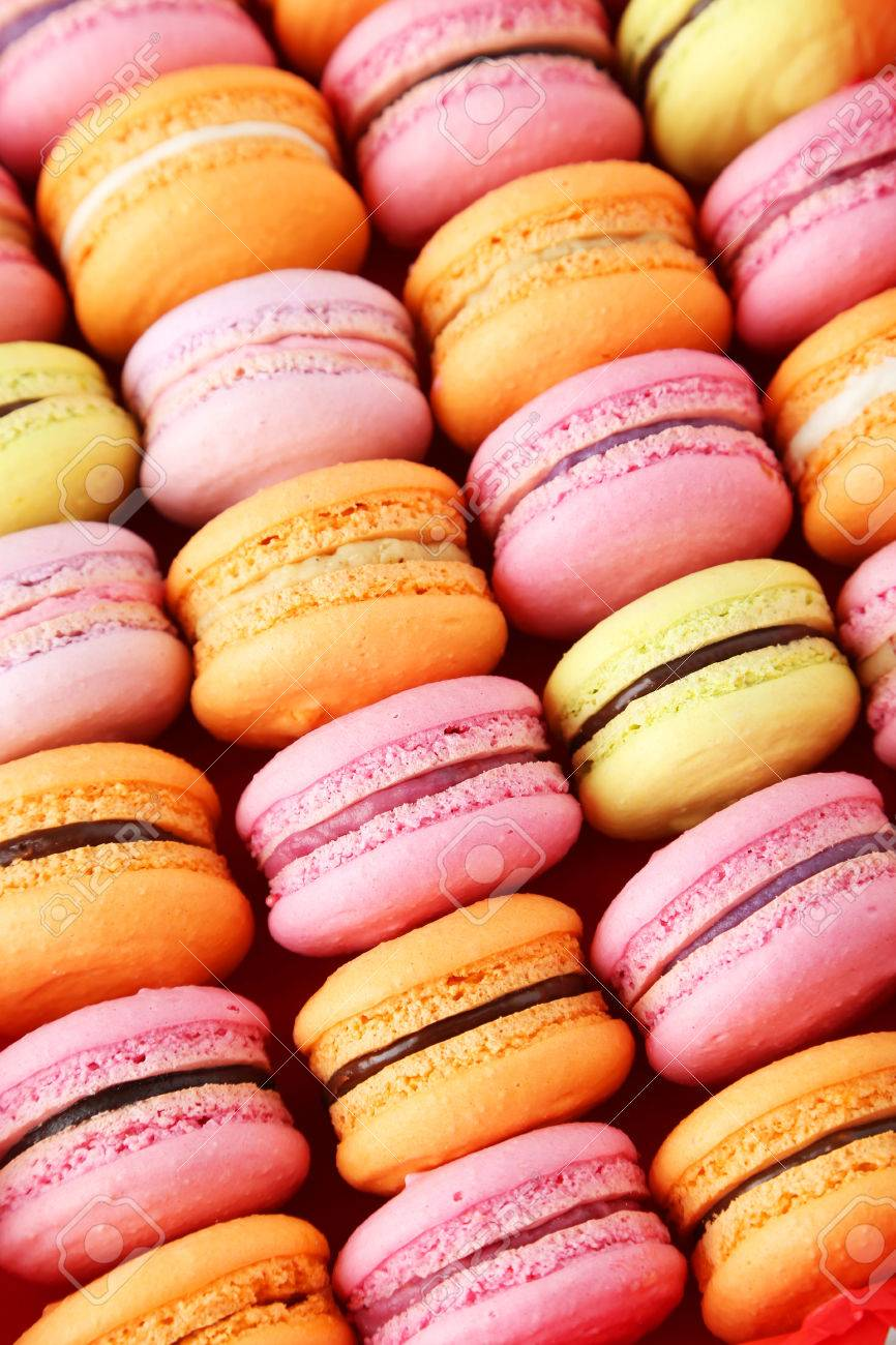 French Colorful Macarons Background Stock Photo Picture And 866x1300