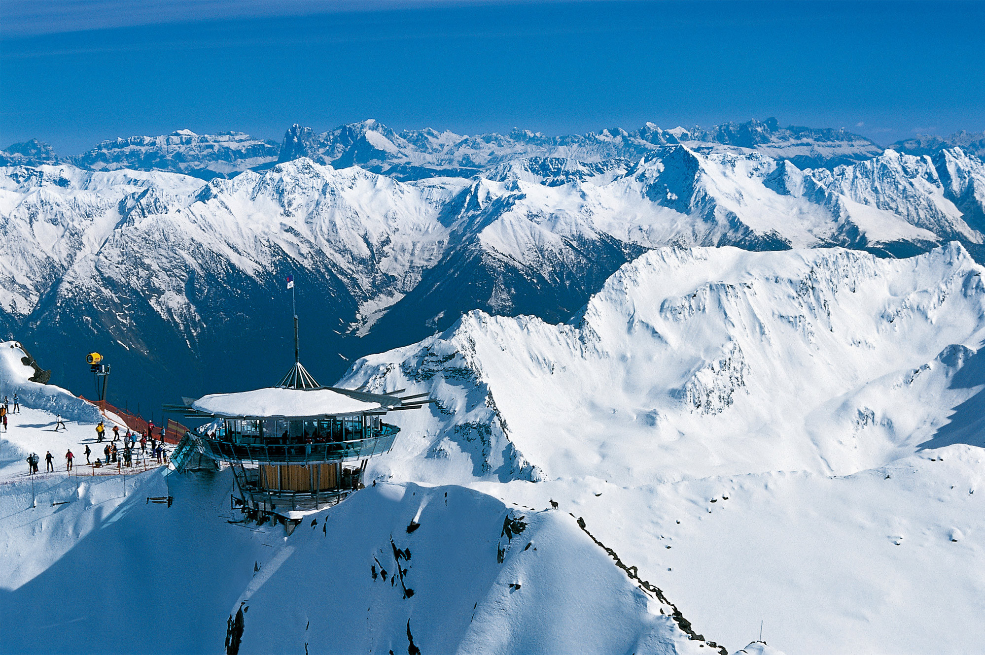 Ski lodge at the ski resort of Ischgl Austria wallpapers and images 1998x1330