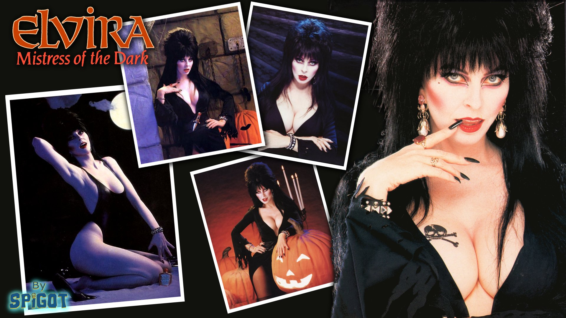 Dark black cassandra peterson elvira elvira mistress of the dark 1920x1080