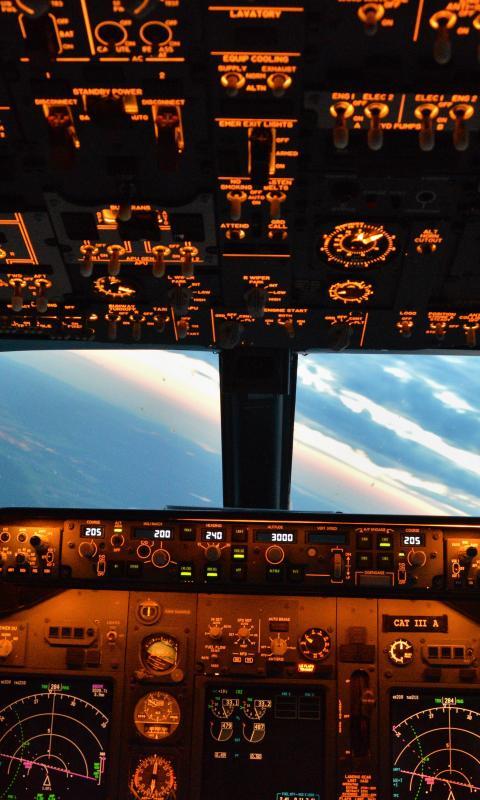 Boeing 737 Aircraft Aviation Cockpit View Wallpaper 74471 480x800