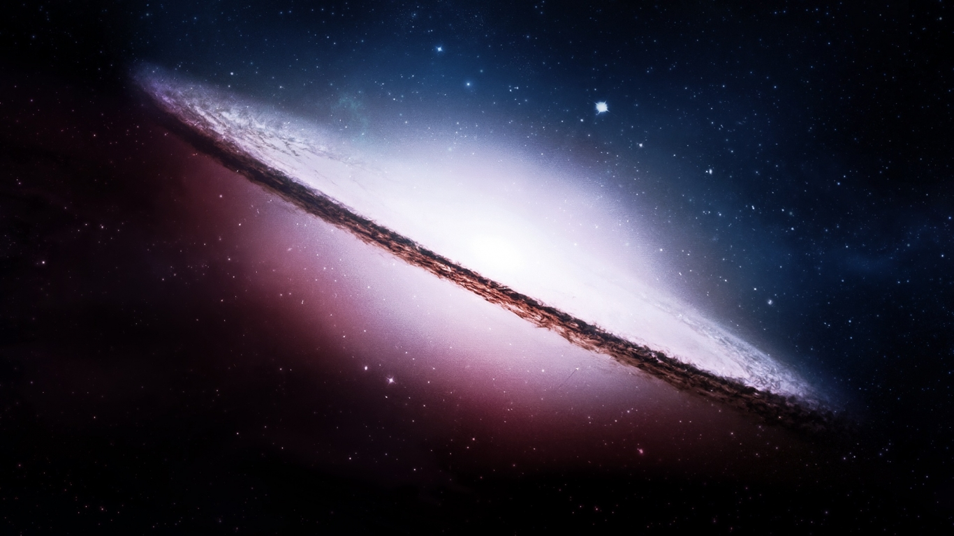 Lunar space galaxy 1366x768   Fondo hd 3073 1366x768
