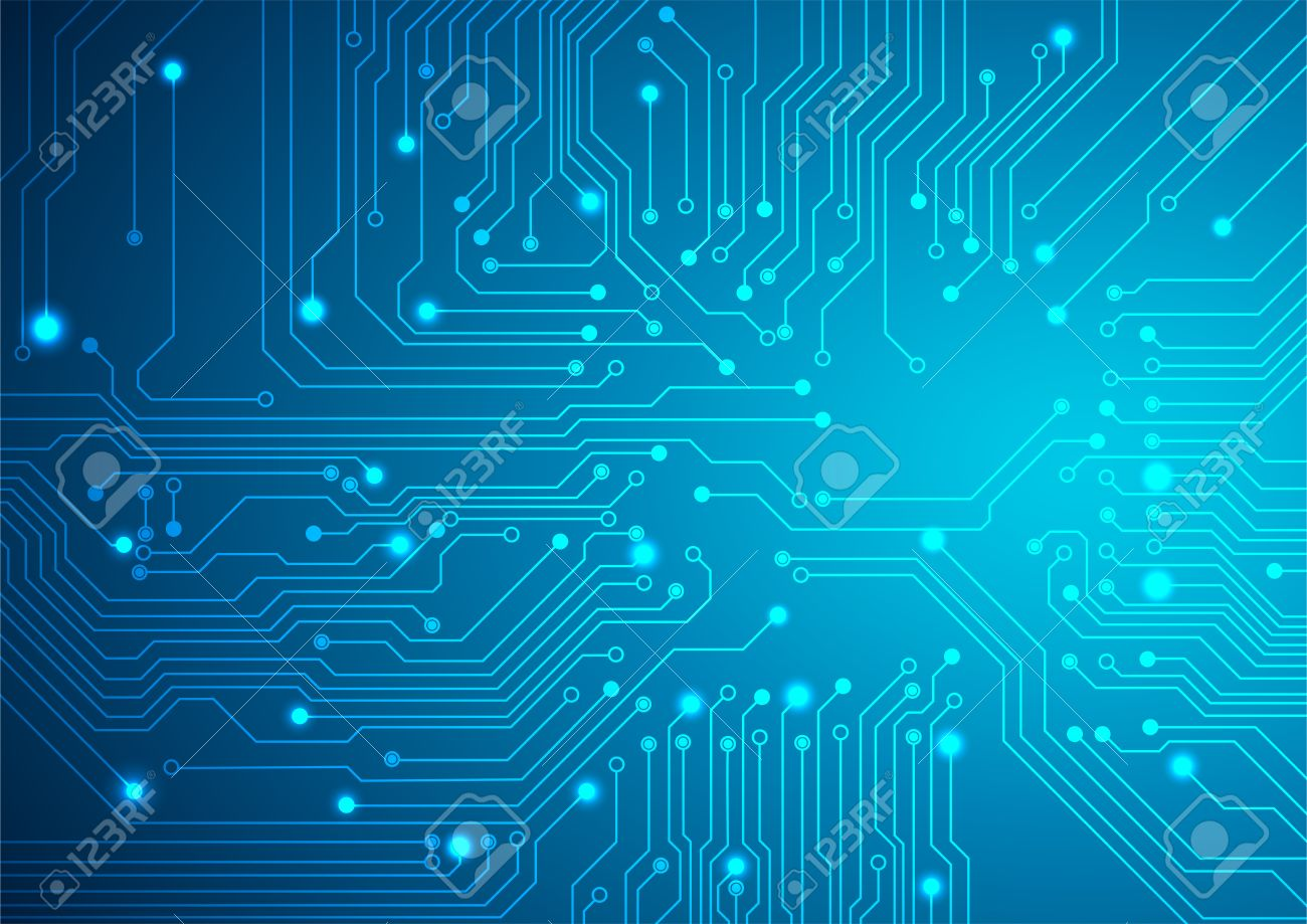 Technological Vector Background With A Circuit Board Texture 1300x919