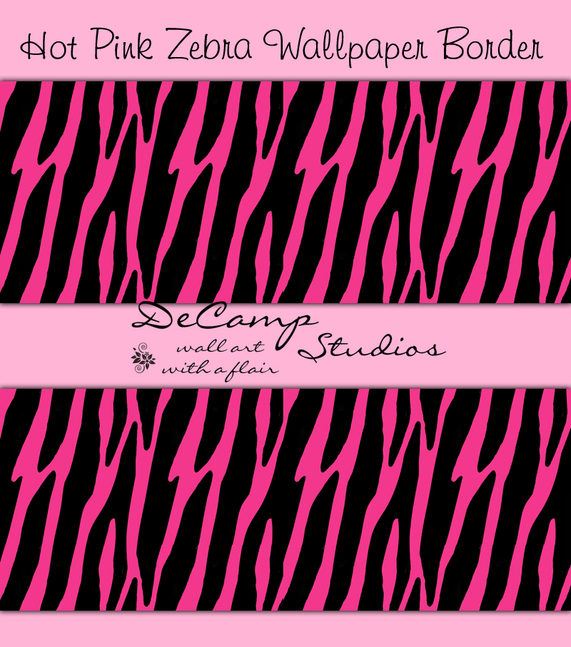 Free download Hot Pink Zebra Print Wallpaper Border Wall ...