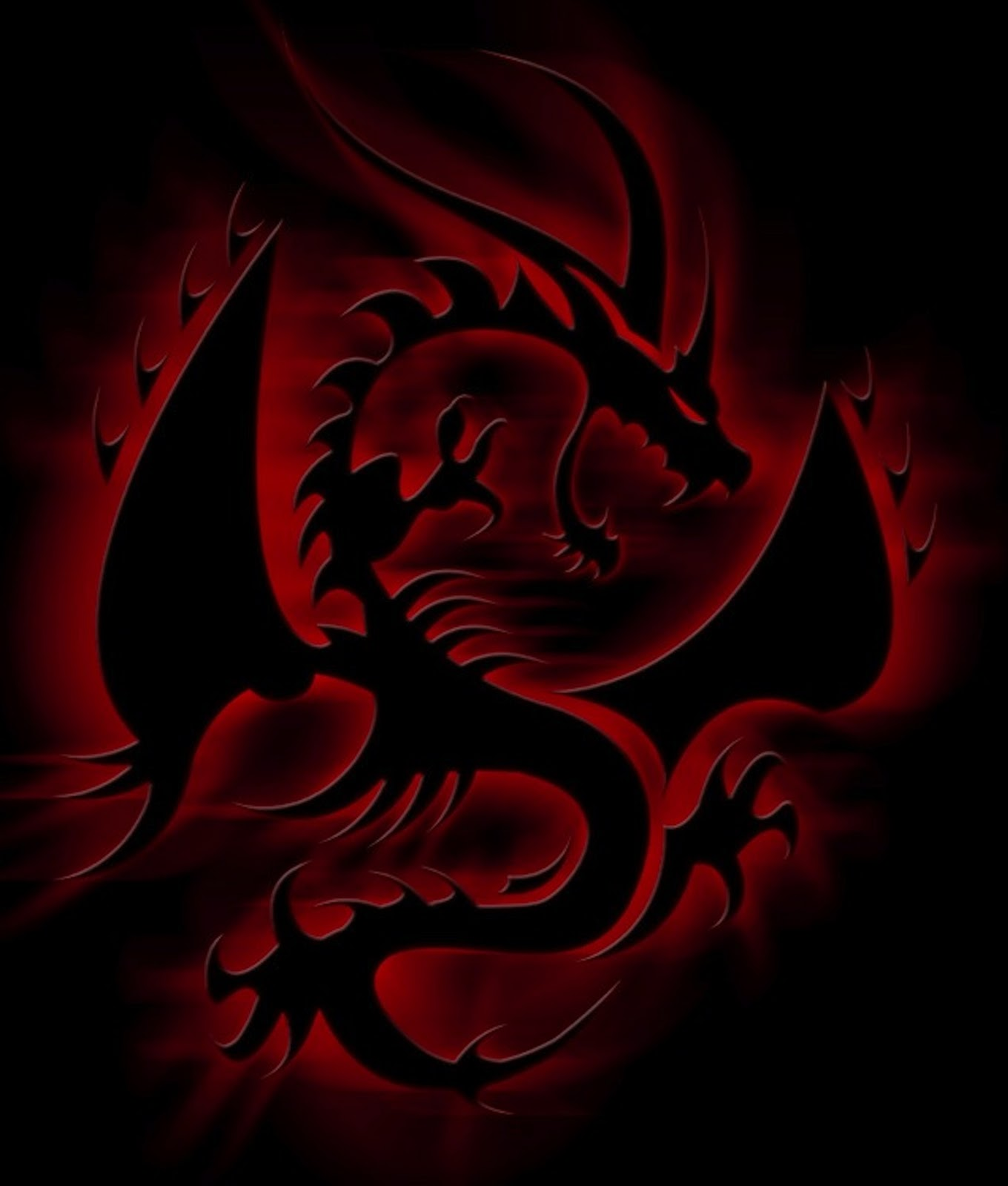 Free Download Red Eyes Black Dragon Wallpaper 1360x1600 For Your