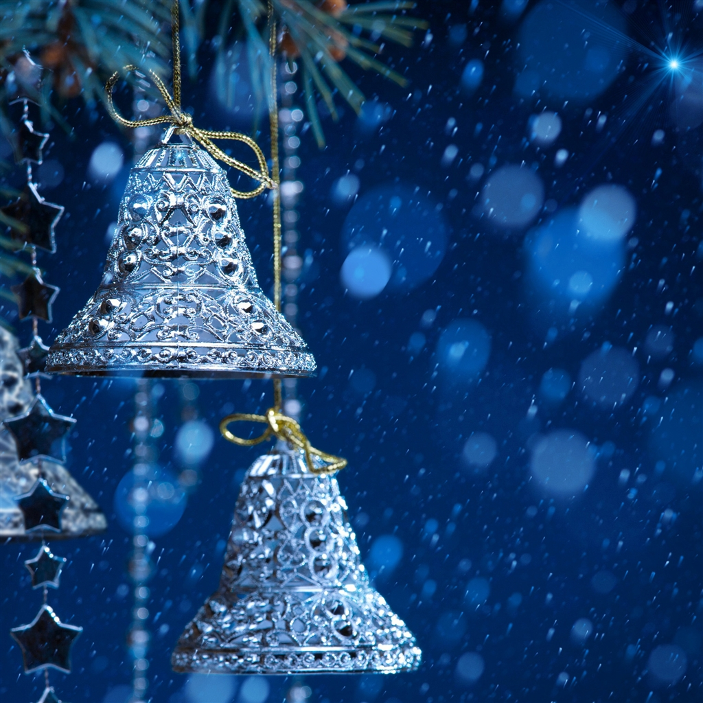 Christmas bells iPad Air Wallpaper Download iPhone Wallpapers iPad 1024x1024