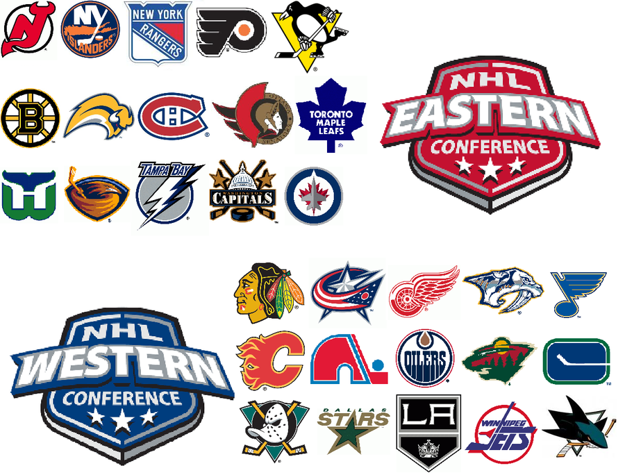 My Favorite NHL Logos by BennyLeo 900x684