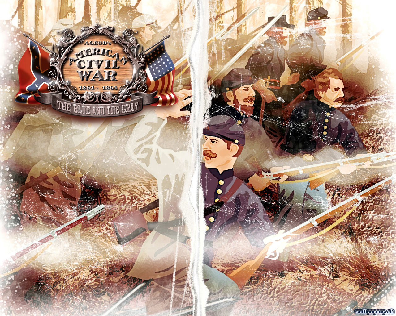 Ageods American Civil War The Blue And Gray Wallpaper 1 1280x1024