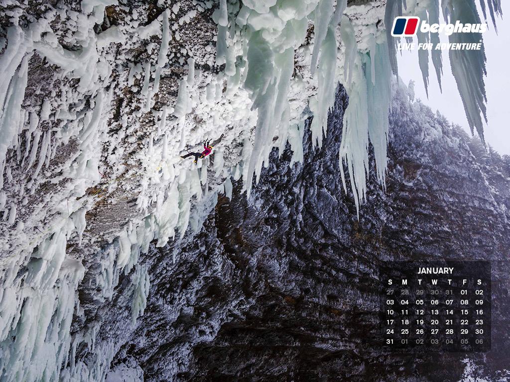 January 2016   Desktop Wallpaper Calendar 1024x768