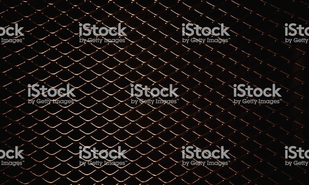 Metal Mesh Or Aluminum Grid With Regular Pattern On Black 1024x612
