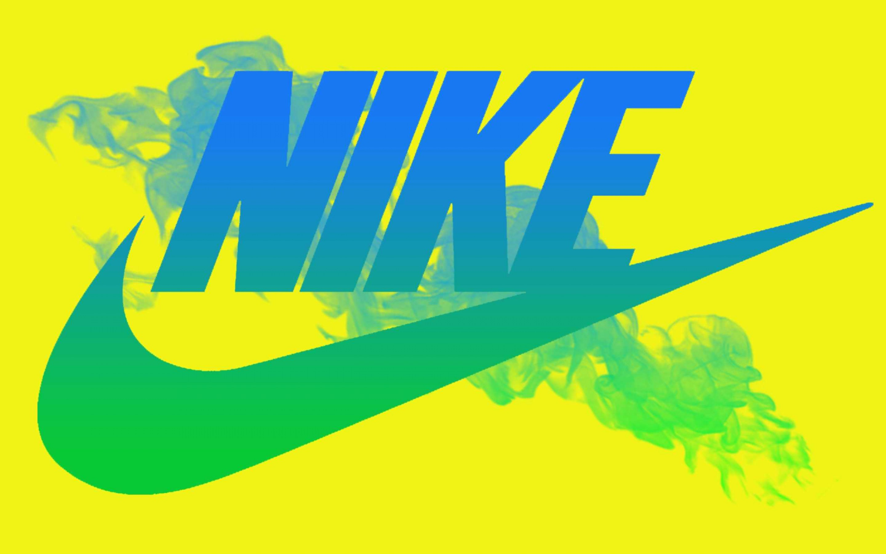 Blue Nike Logo Yellow Background Wallpaper Ful 6924 Wallpaper High 2880x1800
