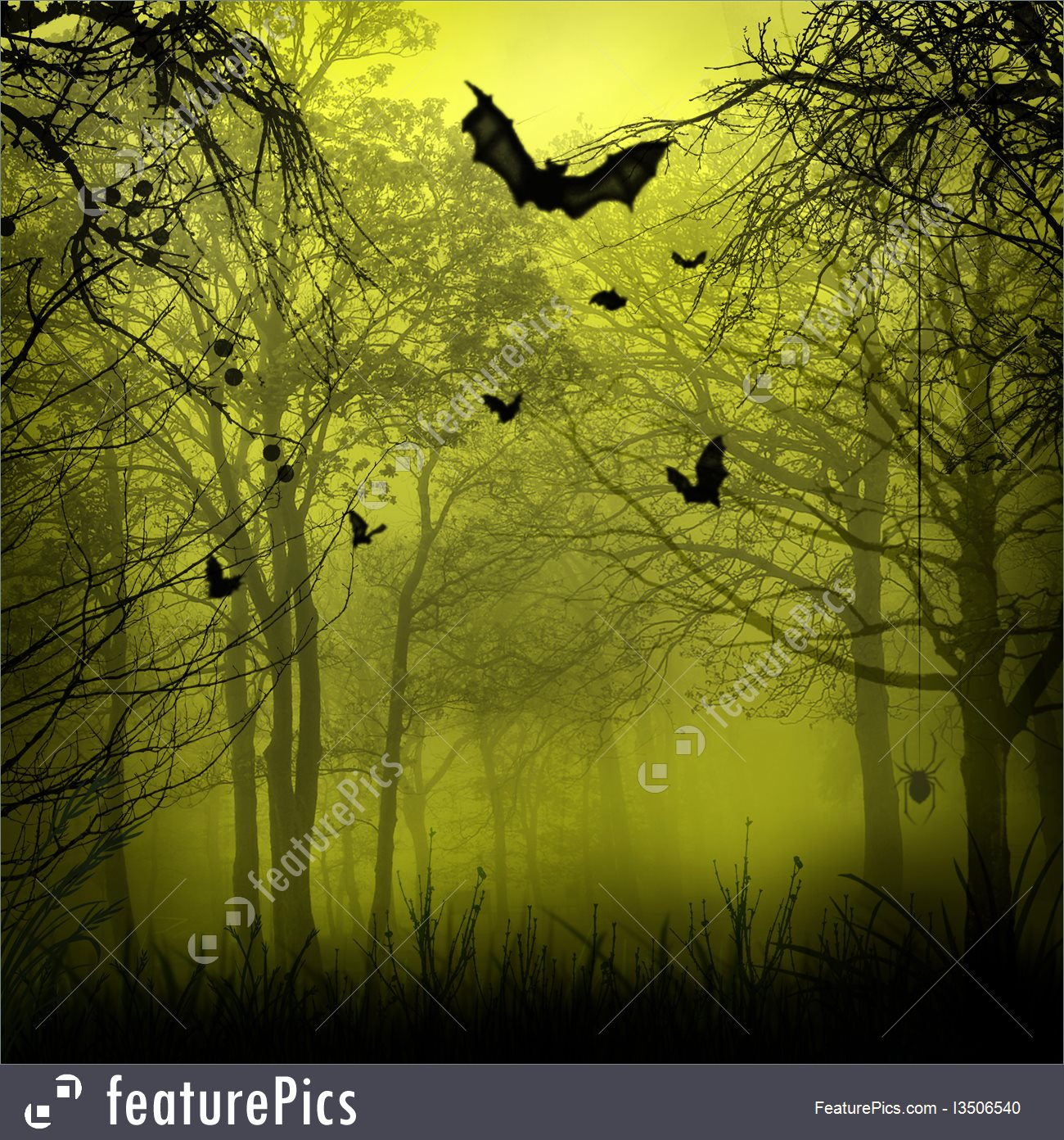 Halloween Scary Background 1300x1392