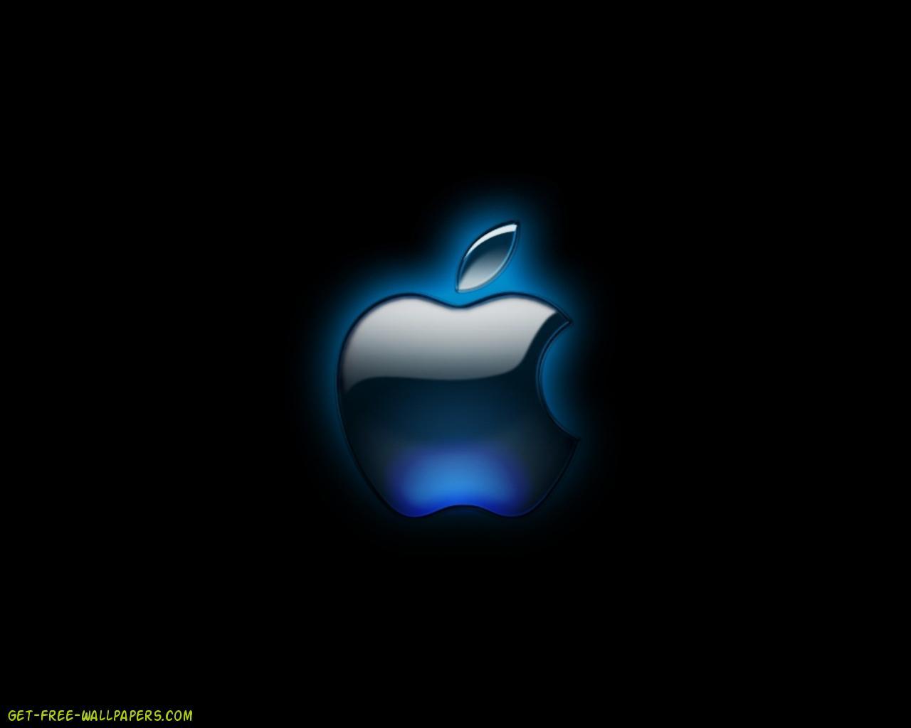 free download cool black apple logo wallpaper 1280x1024