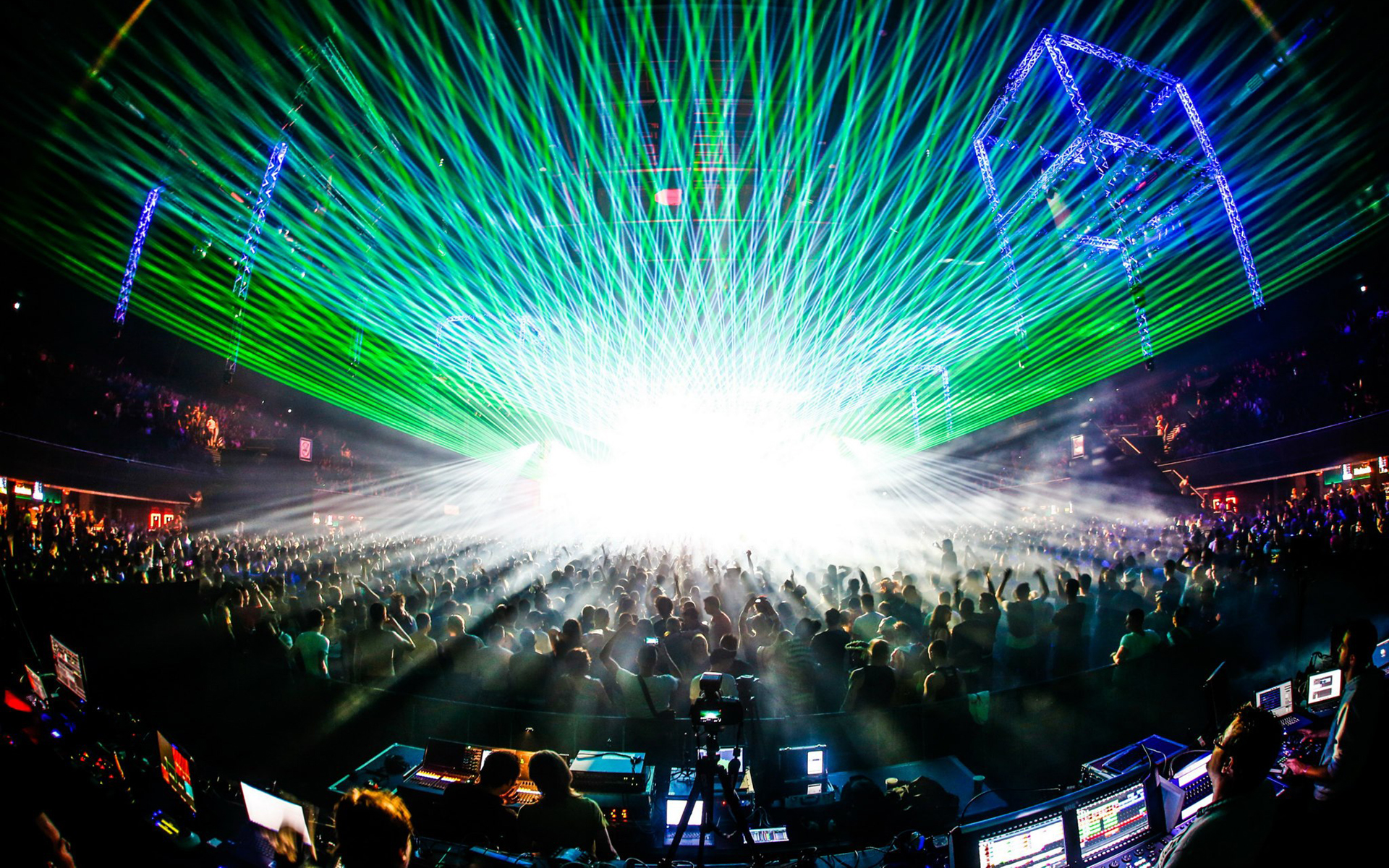 Rave Laser Concert Crowd wallpaper 1920x1200 35334 WallpaperUP 1920x1200