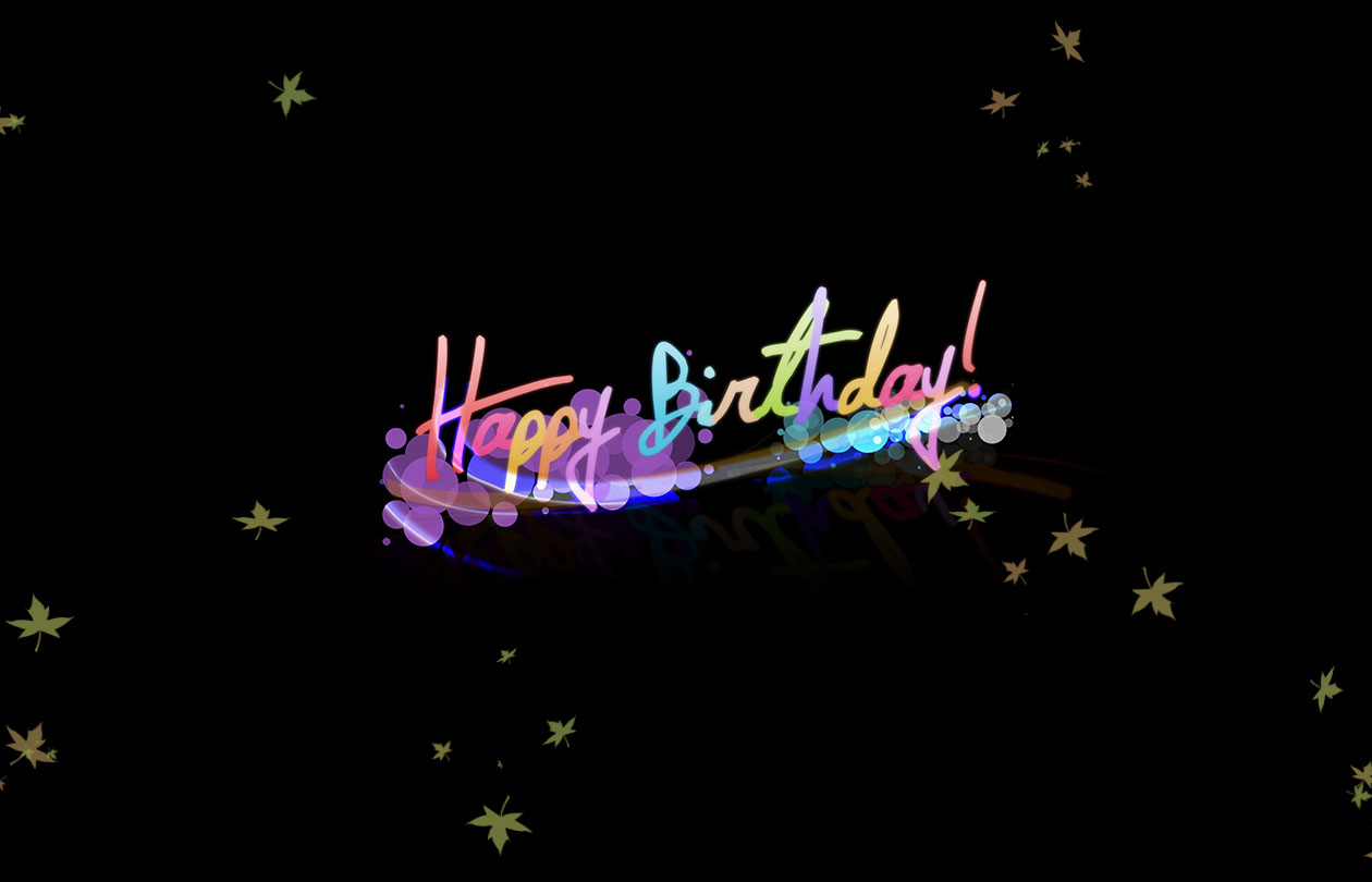 Birthday colorful designs for best friend 1260x810