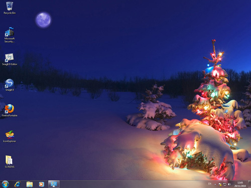 windows 7 christmas theme another windows 7 christmas theme though 500x375