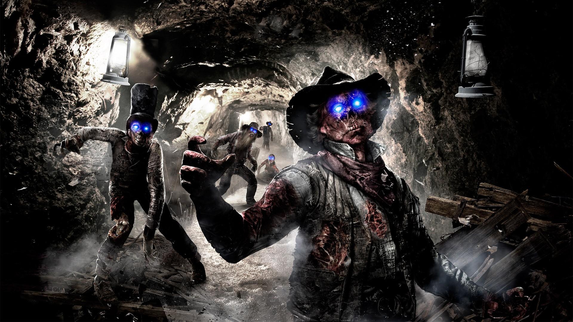 of Duty Black Ops COD Zombies dark horror skull skulls evil wallpaper 1920x1080