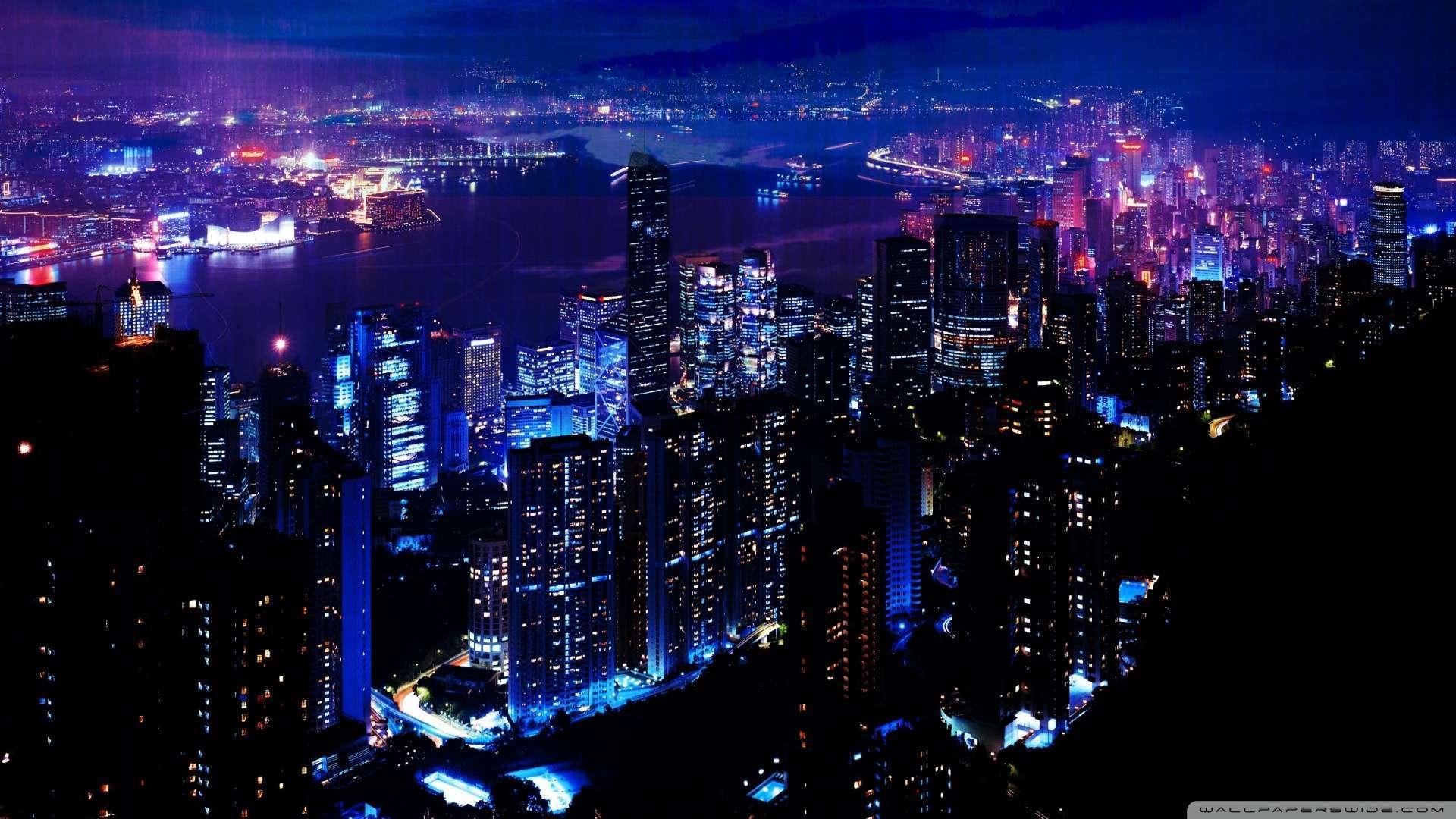Wallpaper Night City 2 Wallpaper 1080p HD Upload at January 4 2014 1920x1080